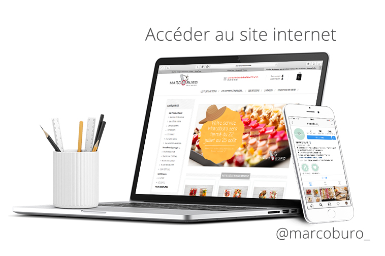 MOCK UP SITE ET INSTAGRAM MARCOBURO